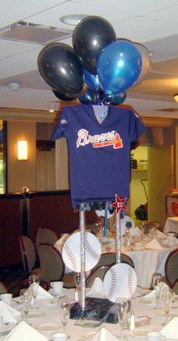 Tall Baseball Jersey Centerpiece