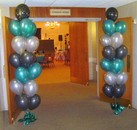 Balloon decor a bnc parties and more inc for Balloon column decoration