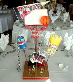 DIY Basketball Centerpiece