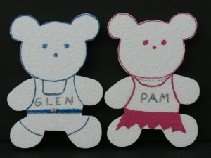 Personalized Girl and Boy Bear Wall Decor
