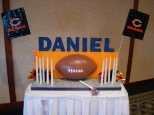 Chicago Bear Theme Candle Lighting