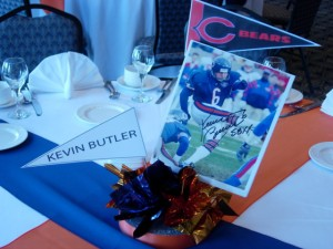 Chicago Bear Theme One Level Centerpiece