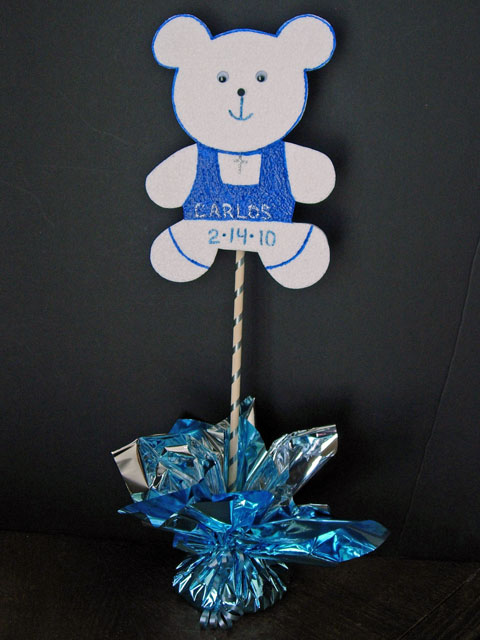 Full Baby Boy Baptism Party Centerpiece