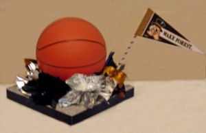 Single Level Bar Mitzvah Basketball Centerpiece