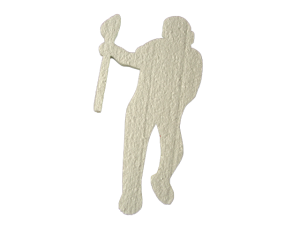 Male LaCrosse Player Cut Out