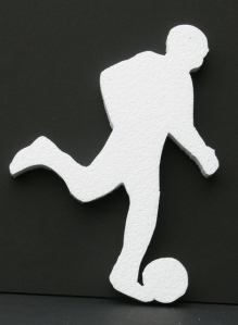 Centerpiece Soccer Player Cut Out