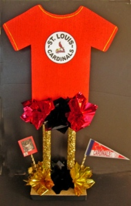 Tall T-Shirt Sports Theme Centerpiece