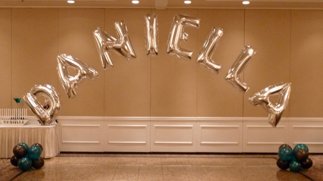 Completed Letter Balloons Party Decoration