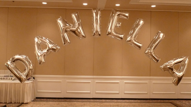 Name in Letter Balloons Party Decoration