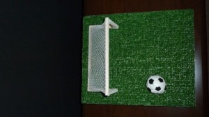 Soccer Theme DIY Centerpiece Kit Top View