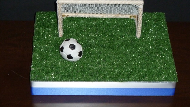 how to make football goal post decoration
