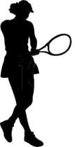 Female Tennis Player Foam Cut Out Shape