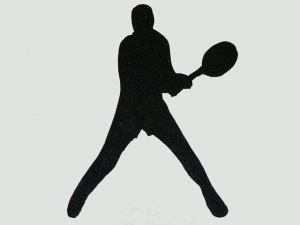 Male Tennis Foam Cut Out